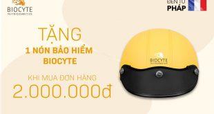 TẶNG NGAY 1 nón bảo hiểm Biocyte cho tất cả khách hàng khi mua đơn hàng từ 2.000.000đ.
